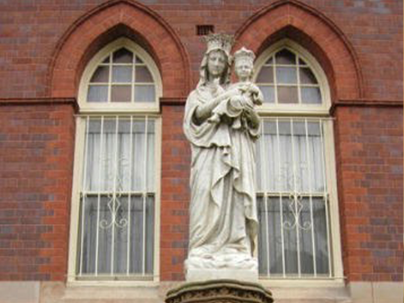 Statue in school grounds