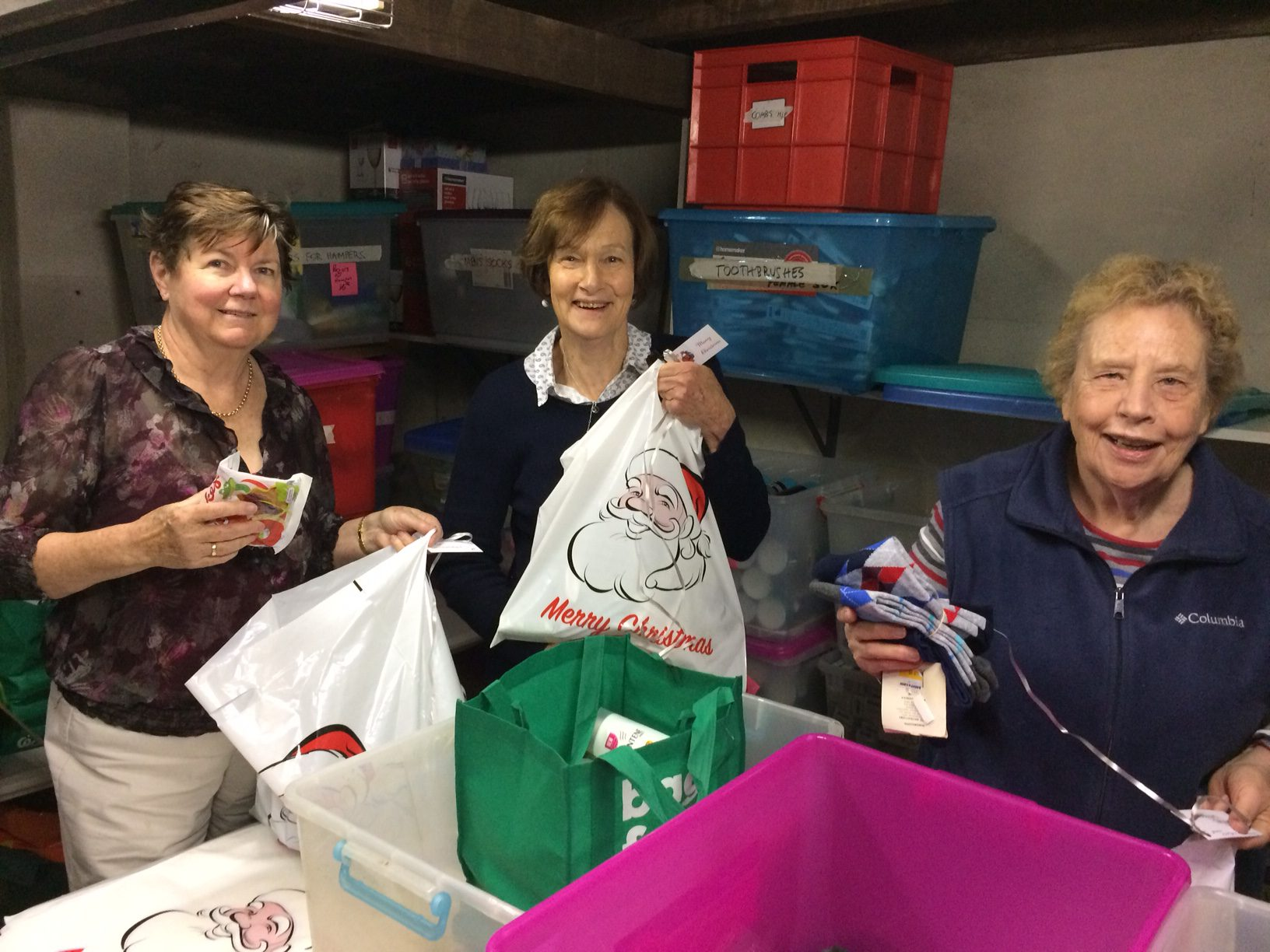 Gethsemane Community packing gift parcels for the Christmas Project 2019