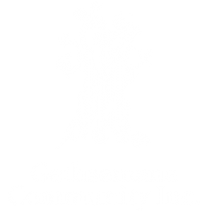 Gethsemane whilte logo stacked small