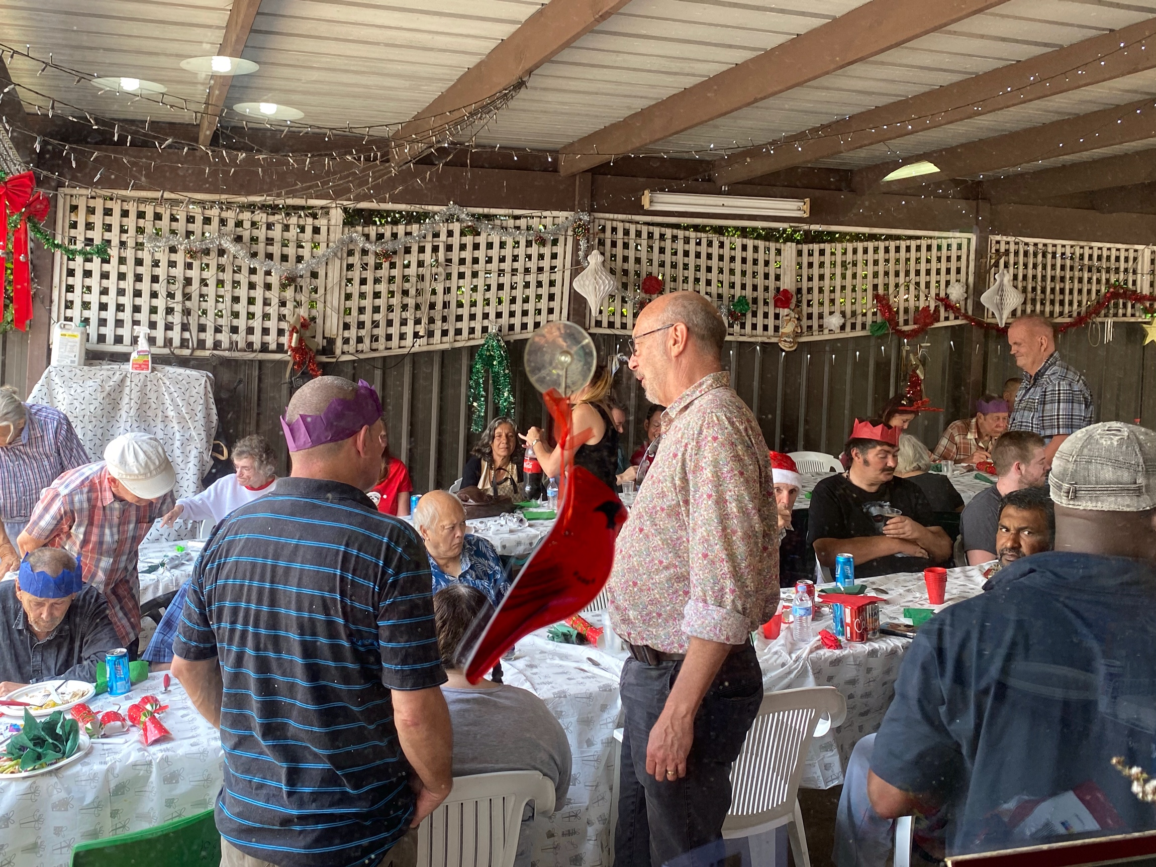 Guests at Gethsemane Community 2020 Christmas lunch