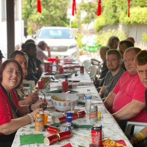 Guests enjoying Christmas lunch at Gethsemane Community
