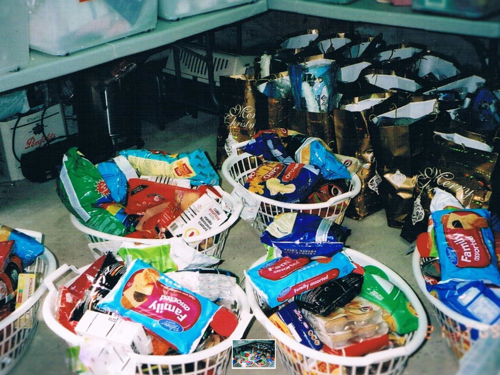 Christmas hampers filled with goodies