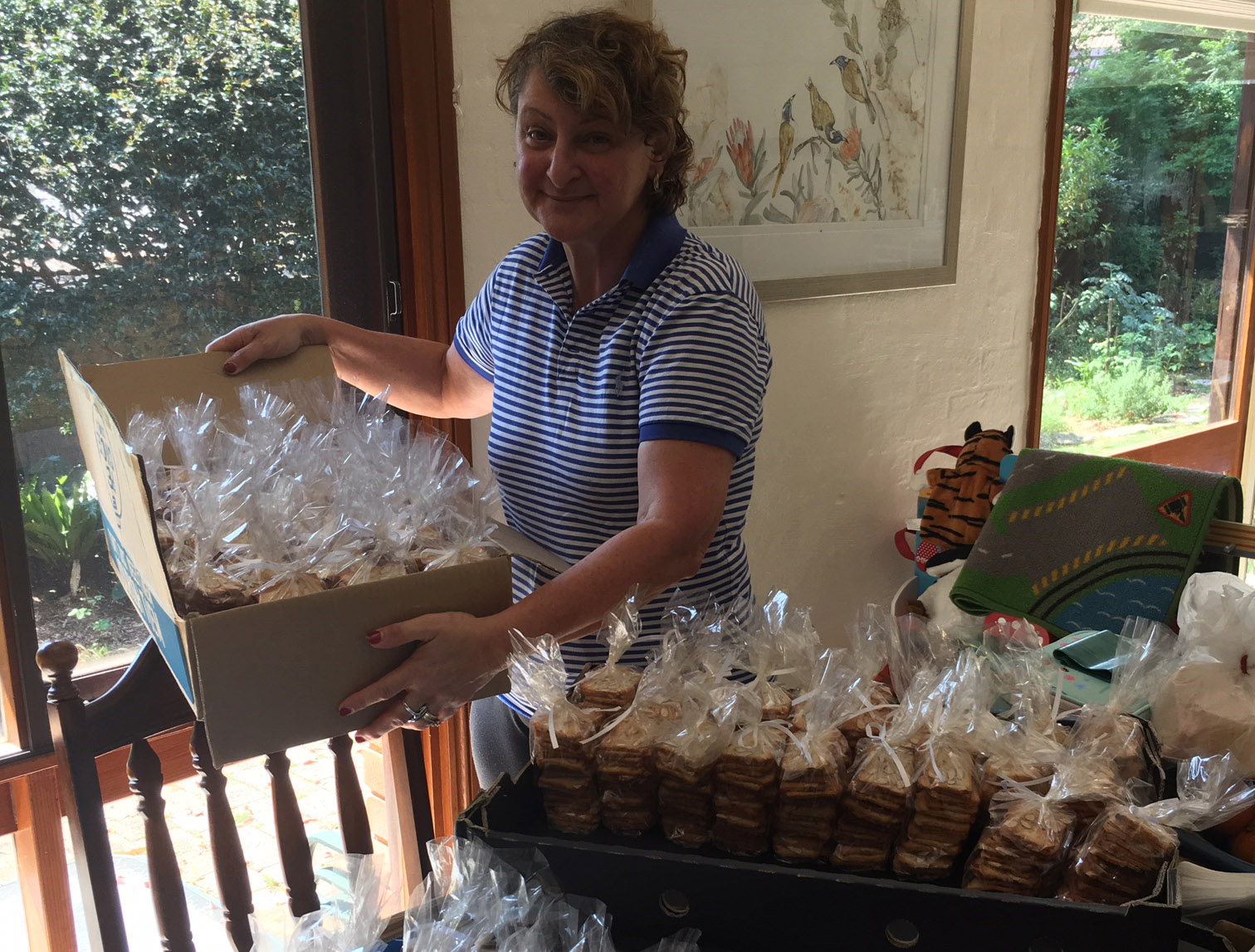 Volunteer Marie bakes up a storm for the homeless