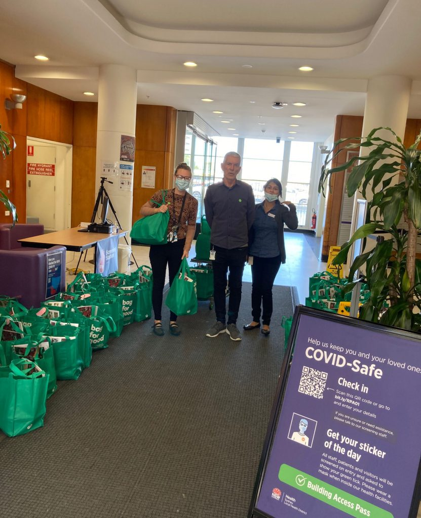 Hampers being delivered to RPA Health 2020